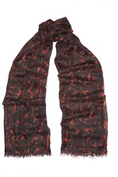 Helmut Lang Strata Printed Cashmere Scarf