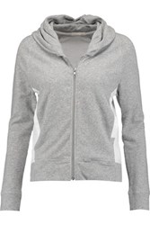 Skin Stretch Cotton Hooded Pajama Top Gray