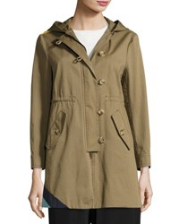 Red Valentino Hooded Parka W Sun And Wave Detail Multi Multi Pattern