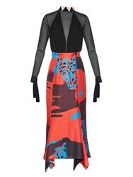 Juan Carlos Obando Saturn Silk Layered Dress
