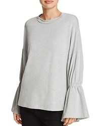 Michelle By Comune Capron Bell Sleeve Top Heather Gray