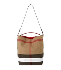 Burberry Shoes And Accessories Medium Ashby Check Hobo Bag Female Brown