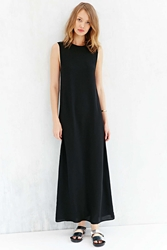 Silence And Noise Silence Noise Sheer Panel Tank Maxi Dress Black