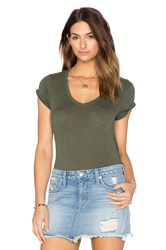 Atm Anthony Thomas Melillo Schoolboy V Neck Tee Green