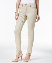 Charter Club Petite Tummy Control Skinny Ankle Pants Only At Macy's Sand