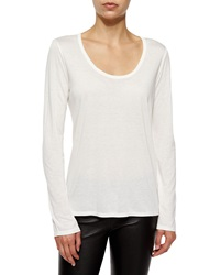 The Row Long Sleeve Scoop Neck Tee