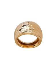 Lord And Taylor 14K Yellow Gold Chevron Cut Ring