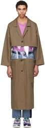 Bless Beige Cotton And Vinyl Transparent Work Coat