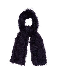 Yves Salomon Wool Scarf Blue