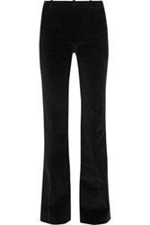 Bouchra Jarrar Cotton Corduroy Flared Pants Black