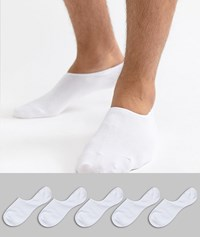 Jack And Jones Invisible Socks 5 Pack White