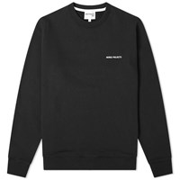 Norse Projects Vagn Classic Serif Logo Sweat End. Exclusive Black