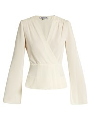 Elizabeth And James Layla Bell Sleeved Wrap Blouse Ivory
