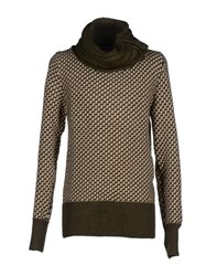 Gianfranco Ferre Gf Ferre' Knitwear Turtlenecks Men Military Green