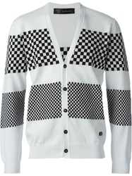 Versace Gingham Check Cardigan