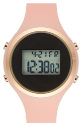 Titanium Women's Lcd Silicone Strap Watch 39Mm Pink