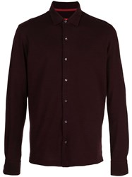 Isaia Classic Jersey Shirt Red