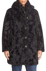 Plus Size Women's Laundry By Shelli Segal Reversible Faux Persian Lamb Fur Coat