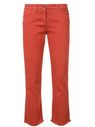 Brunello Cucinelli Stretched Skinny Cropped Jeans Red