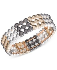 Nine West Tri Tone Stretch Bracelet Tri Tone