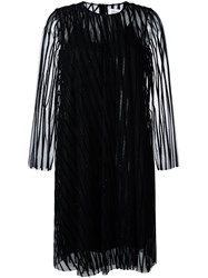 Gianluca Capannolo Glitter Jacquard Dress Black