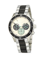 Ted Baker Round Chronograph Watch Silver