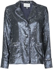Alexis Sequin Embellished Jacket Blue