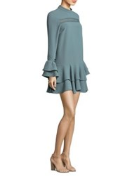 Prose And Poetry Marcel Cutout Sleeve Mini Dress Grey