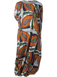 Junya Watanabe Comme Des Gara Ons African Print Dress Multicolour