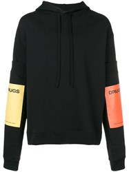 Raf Simons Colour Block Hoodie Black