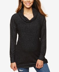 Motherhood Maternity Cowl Neck Sweatshirt Charcoal