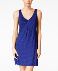 Alfani Dotted Sleeveless Nightgown Only At Macy's Royal Ink Dot