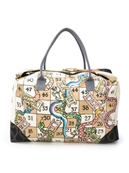 Vivienne Westwood Anglomania 'Snake Board Game' Weekender Bag Nude And Neutrals