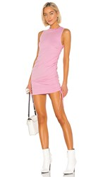 Cotton Citizen Lisbon Tank Dress In Pink. Flamingo