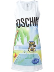 Moschino Swim Beach Teddy Dress White