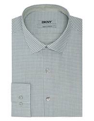 Dkny Slim Fit Check Dress Shirt Willow