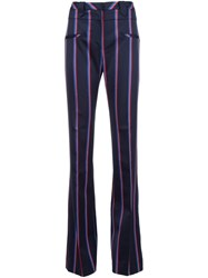 Altuzarra Striped Flared Trousers Blue