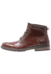 Pier One Laceup Boots Tan Coffee Cognac