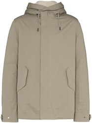 Yves Salomon Hooded Shearling Parka Neutrals