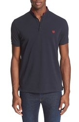 Men's The Kooples Band Collar Polo Navy