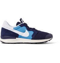 Nike Air Berwuda Leather Trimmed Mesh And Tech Canvas Sneakers Blue