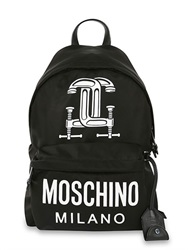 Moschino Tools Printed Cotton Blend Backpack