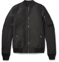Rick Owens Flight Canvas Bomber Jacket Black