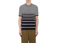 Paul Smith Ps By Men's Nautical Striped Knit Cotton Shirt Navy White