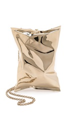 Anya Hindmarch Crisp Packet Clutch Gold