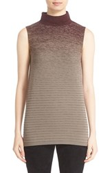 Lafayette 148 New York Women's Ombre Stitch Sleeveless Sweater Cabernet Multi