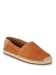 Cole Haan Camden Leather Espadrille Flats British Tan