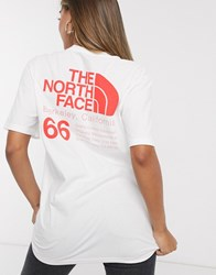 The North Face 66 California T Shirt In White