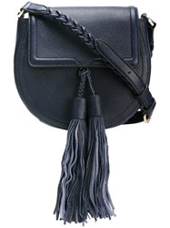 Rebecca Minkoff Tassel Detail Crossbody Bag Blue