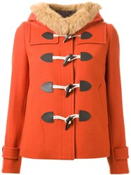 Guild Prime Short Hooded Duffle Coat Yellow And Orange